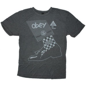 OBEY Vintage Heather T-Shirt - Rude Boyz - Black