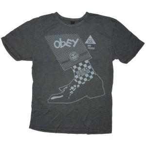 OBEY Vintage Heather T-Shirt - Rude Boyz - Black