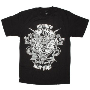 OBEY Basic T-Shirt - No More War Pigs - Black