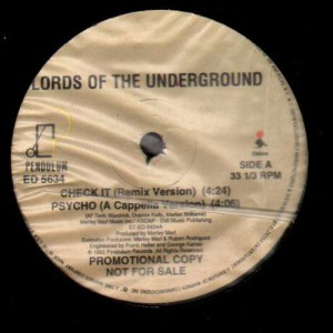Lords Of The Underground - Check It remix - promo 12''