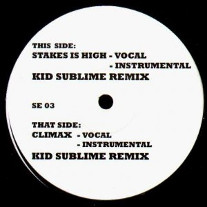 Kid Sublime - Stakes is high / Climax - 12''