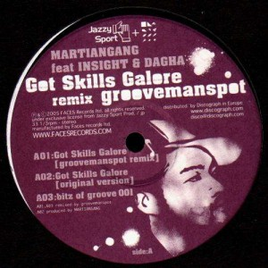 Martiangang ft Insight & Dagha - Got skills Galore / bitz of groove 001 / bitz of groove 002 - 12''
