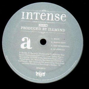 Intense - Need / A new beginning - 12''