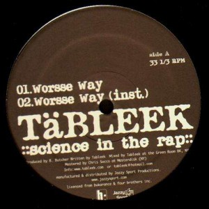 Tableek - Worsse way / Serene vision - 12''