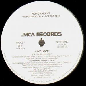 Nonchalant - 5 oclock remix - promo 12''