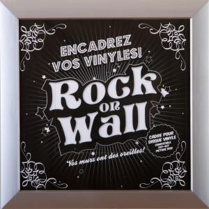 RockOnWall - Cadre pour disque vinyle - Argent