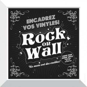 RockOnWall - Cadre pour disque vinyle - Blanc Mac