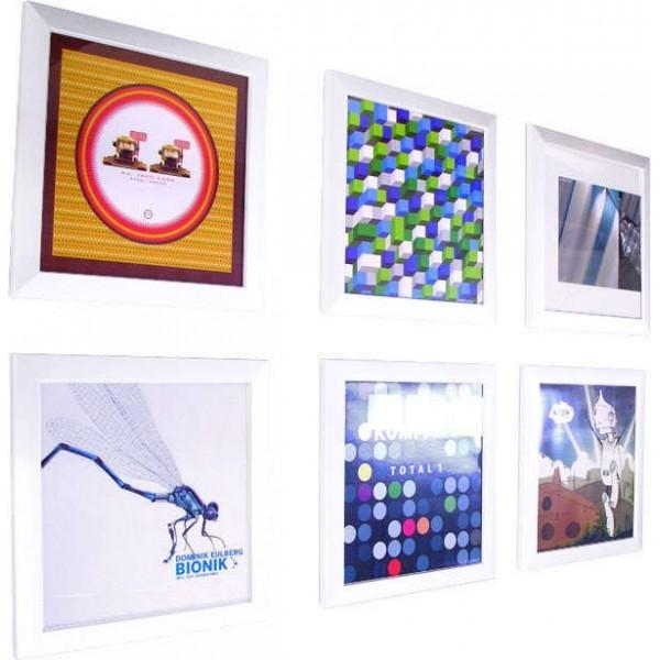 rockonwall cadre pour disque vinyle blanc mac en vente sur. Black Bedroom Furniture Sets. Home Design Ideas