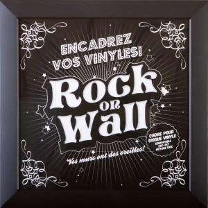 RockOnWall - Cadre pour disque vinyle - Noir