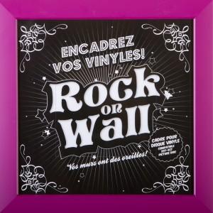 RockOnWall - Cadre pour disque vinyle - Prune