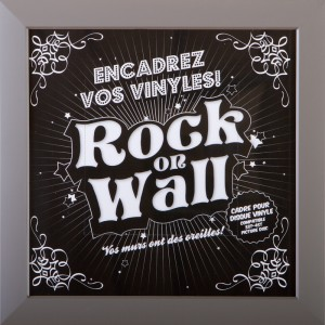 RockOnWall - Cadre pour disque vinyle - Taupe