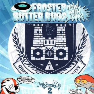 Thud Rumble - Frosted Butter Rugs - Qbert Skratch University Logo - Slipmats