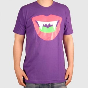 LAZY OAF T-shirt - Vamp Lips - Purple