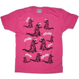 LAZY OAF T-shirt - Godzilla - Pink