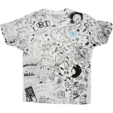 BEAUTIFUL DECAY T-shirt - Scribble - White