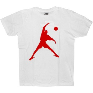 MIKE T-shirt - Wing Foot - White