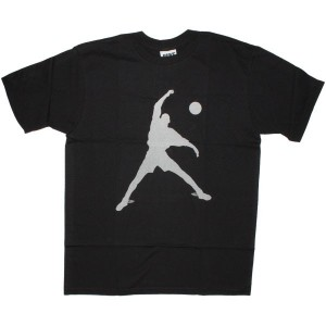 MIKE T-shirt - Wing Foot - Black