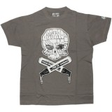 DESTROY ALL TOYS T-shirt  - Skull & Bones - Grey
