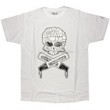 DESTROY ALL TOYS T-shirt  - Skull & Bones - White