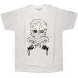 DESTROY ALL TOYS T-shirt  - Skull & Bones - White