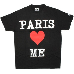 DESTROY ALL TOYS T-shirt  - Paris loves me - Black