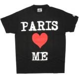 DESTROY ALL TOYS T-shirt  - Paris loves me - Black