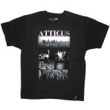 Atticus T-shirt - Scaped slim tee - Black
