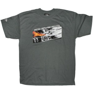 DMC T-Shirt - Dark Grey DMC Flame DJ Battle