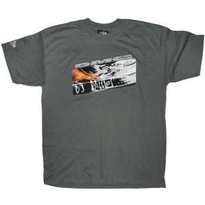 DMC T-Shirt - Dark Grey DMC Flame DJ Battle
