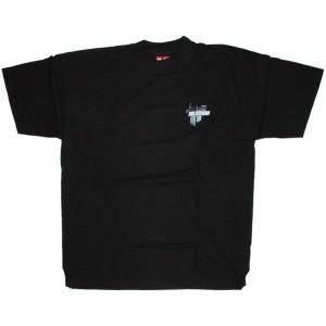 Double H Wear T-Shirt - Black H2 DJ Crew Small Logo