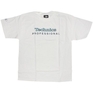 Technics T-Shirt - White Technics Professional logo