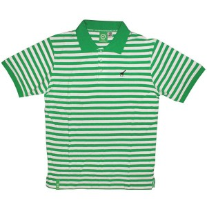 LRG Polo - Grass Roots Striped Polo - Kelly