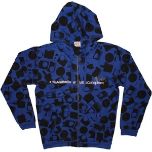 WESC Zipped Hoodie - Stash We are... nozzle - Greek Blue