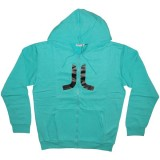 WESC Zipped Hoodie - Icon - Teal
