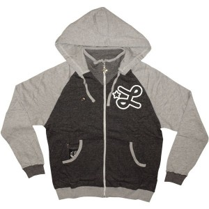 LRG Zipped Hoodie - Sound Of Silver Zip-Up Hoody - Black