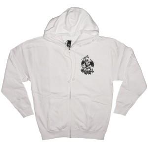 OBEY Zipped Hoodie - Obey Dragon - White