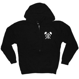 OBEY Zipped Hoodie - Obey Hammer - Black