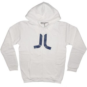 WESC Zipped Hoodie - Icon - White