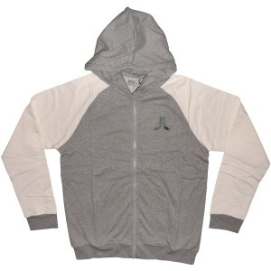WESC Zipped Hoodie - Ashmore - Grey