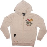LRG Zipped Hoodie - Top shotta Zip Front Hoody - Natural Heather