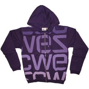 WESC Sweat - Hood Zip Logo Biggest-PA - Purple