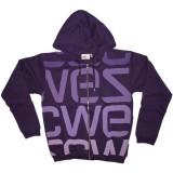 WESC Sweat - Hood Zip Logo Biggest-PA - Purple
