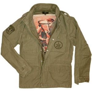 OBEY Jacket - Make Art Not War - Army Green