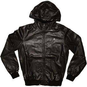 LRG Leather Jacket - Grass Roots Perf Faux - Black