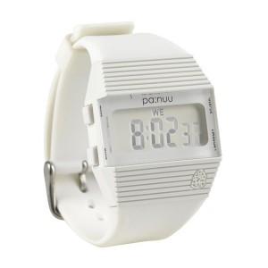 PA:NUU Watch - Bandit - White / Silver Screen