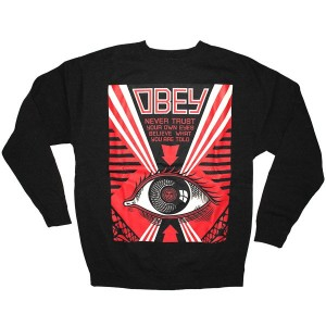 OBEY Basic Fleece - Never trust your own eyes - Black