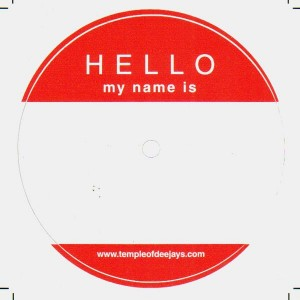 Sticker Temple Of Deejays - Macaron ''Hello my name is'' x4