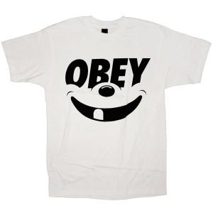 OBEY Basic T-shirt - Smile - White