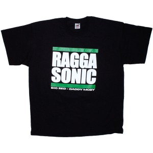 T-shirt Raggasonic - Big Red / Daddy Mory - Black