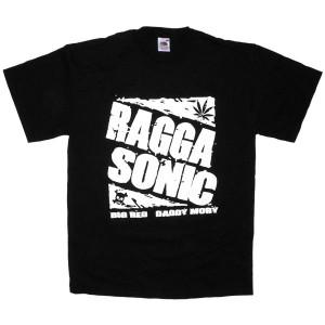 T-shirt Raggasonic - N&B Logo - Black